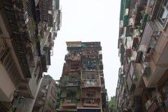 Blöcke der alten Art der Wohnungen in Macau. China. Lizenzfreie Stockbilder