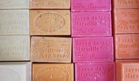 Blöcke der Seife von Marseille Lizenzfreies Stockfoto