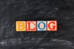 Blöcke, die Blog formulieren Stockbilder