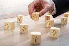Blöcke für Kunde-gehandhabtes Verhältnis-Konzept Lizenzfreie Stockfotos