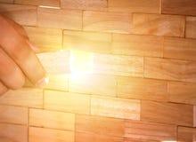 Blöcke vereinbart in einer Wand Lizenzfreie Stockfotografie