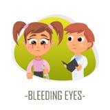 Blöda ögonläkarundersökningbegrepp också vektor för coreldrawillustration Royaltyfria Foton