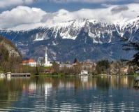 Blödd Lake, Slovenien Royaltyfria Bilder