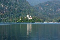 Blödd Lake, Slovenien Arkivfoton
