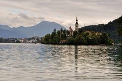 Blödd sjöö, Slovenien Arkivbild