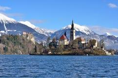 Blödd sjö, Slovenien Arkivfoton