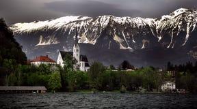 Blödd sjö - Slovenien Royaltyfria Bilder