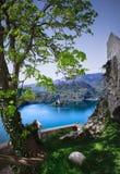Blödd sjö - Slovenien Arkivfoton