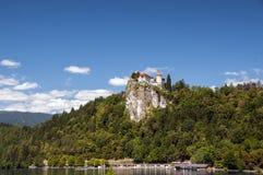 Blödd slott, den äldsta slotten i Slovenien fotografering för bildbyråer