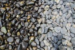 Blöta - och - bakgrund för den torra stenen Royaltyfri Bild