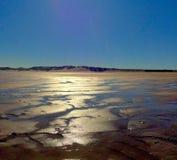 Blöta sand på stranden Arkivfoto