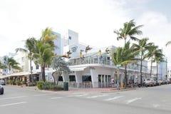 Blöta Willies bommar för Miami Beach Arkivfoto