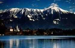 Blött landskap av sjön Royaltyfria Bilder