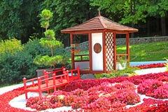 Blühen Sie Ausstellung ` Japan mit den Augen Ukraine-` bei Spivoche Pole in Kyiv, Ukraine lizenzfreie stockbilder