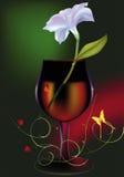 Blühen Sie ein Glas ein Muster Stockbild
