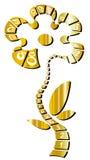 Blühen Sie gebildet vom zentimetrischen Band Stockfoto