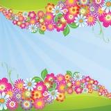 Blühen Sie Hintergrund lizenzfreie abbildung
