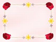 Blühen Sie Karten-Rand Stockbild