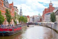 Blühen Sie Markt in Amsterdam auf Singel u. x28; Bloemenmarkt& x29; Stockfotos