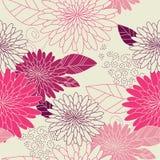 Blühen Sie nahtloses Hintergrundpurpur Lizenzfreies Stockbild