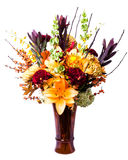 Blühende Blumenanordnung im Vase stockfoto