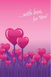 Blühende Herzen Stockbilder