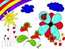 Blühende Innere Stockbild