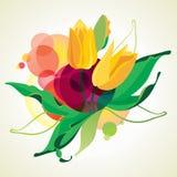 Blühende Tulpen. Lizenzfreie Stockbilder
