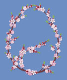 Blühende Zweige in einer Eiform Lizenzfreie Stockbilder