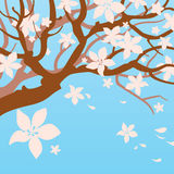Blühender Baum vektor abbildung
