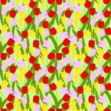Blühender Frühling blüht nahtloses Muster Stockbild