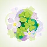 Blühender Klee. Lizenzfreie Stockfotos