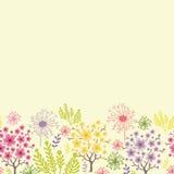 Blühendes horizontales nahtloses Muster der Bäume Lizenzfreies Stockfoto