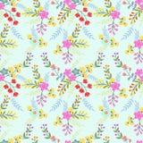 Blühendes nahtloses Muster der Blumen für Gewebehintergrund lizenzfreie abbildung