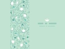 Blühendes Niederlassungs-horizontales nahtloses Muster lizenzfreie abbildung