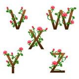 Blüht Alphabet mit roten Rosen Lizenzfreie Stockfotos