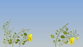 Blüht Animationshintergrund zerlegung vektor abbildung