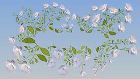 Blüht Animationshintergrund zerlegung stock abbildung