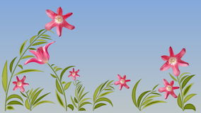 Blüht Animationshintergrund zerlegung lizenzfreie abbildung