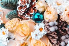 Blüht Blumenstraußnahaufnahme lizenzfreie stockfotografie