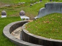 Blüht Dekoration auf dem chinesischen Grab. Lizenzfreie Stockfotografie