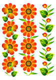Blüht dekorative Elementansammlungsvölker Stockbilder