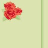 Blüht eine Rose auf Papier Lizenzfreie Stockfotografie