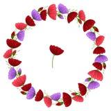 Blüht Girlande Blumenkranz mit Raum für Text stock abbildung