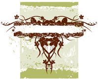 Blüht grunge Fahne stock abbildung