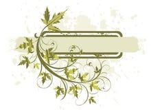 Blüht grunge Fahne lizenzfreie abbildung