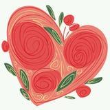 Blüht Herz Lizenzfreie Abbildung