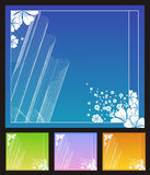 Blüht Hintergründe lizenzfreie abbildung