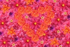 Blüht Hintergrund mit Innerem Stockbild