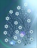 Blüht Illustration auf buntem Hintergrund Lizenzfreie Stockbilder